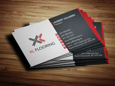 flooring business business card design for xl flooring solocube creative