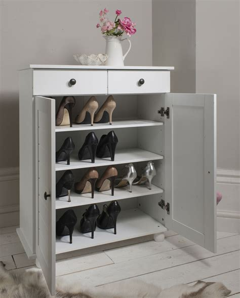 Shoes Cupboard by Shoe Storage Cabinet Cupboard With 2 Storage Drawers