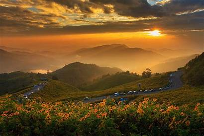Wallpapers Nature Background Thailand Mountains Landscapes Sunset