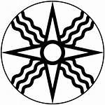 Symbol Sun Shamash Ancient Star God Svg