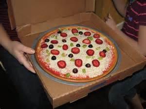 Happy Birthday Pizza Cake