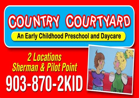 country courtyard preschool amp daycare pilot point tx 418 | CCOnline