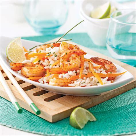 coco cuisine salade repas aux crevettes riz et lait de coco recettes