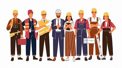 Construction Team Cartoon Facility Management Professional Worker