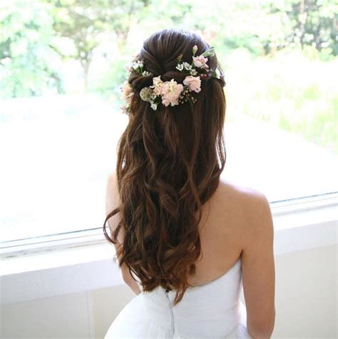 beautiful wedding hairstyles ideas  bangs  long