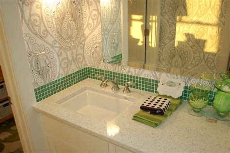 Green Bathroom Backsplash by Tile Backsplash In A Cape Cod Style House Icreatables