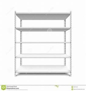 Empty storage shelf stock vector. Illustration of empty ...