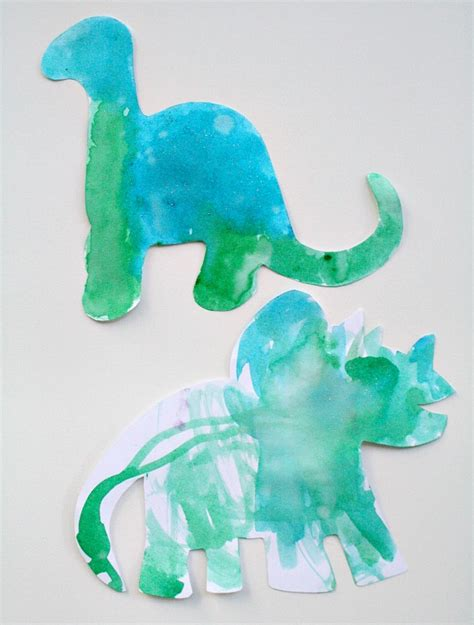 easy dinosaur craft for toddlers 229 | Glitter Watercolors Painting