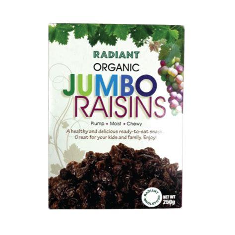 Golden Raisins Jumbo 250g radiant organic jumbo raisins 250g green wellness