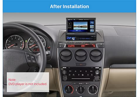 1din 2002 2007 mazda 6 atenza car radio fascia mounted stereo dashboard surrounded panel fitting
