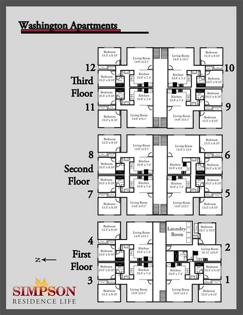 floor plan of a building housing options