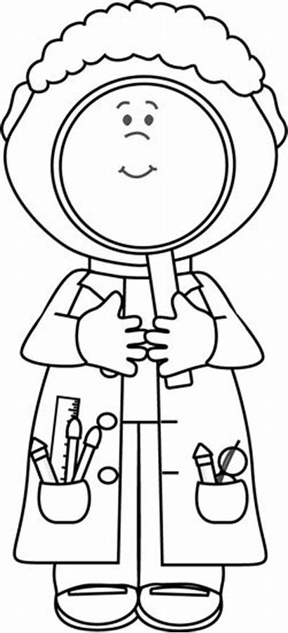 Science Scientist Clipart Magnifying Glass Clip Class