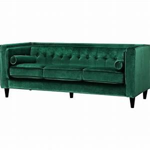 Meridian furniture 642green s taylor green velvet sofa w for Green velvet sofa for your modern living room