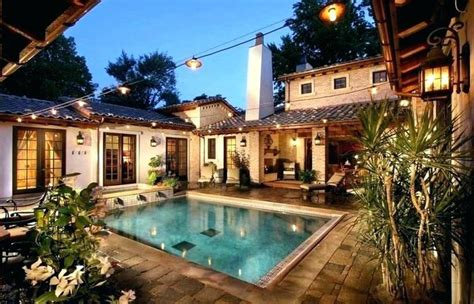 courtyard mediterranean style house plans story likeable spanish moroccan plan small