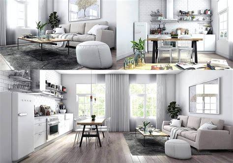 Sketchup Living Room Model by Sketchup Living Kitchen Room 3d Model For
