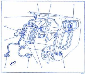 Gmc Jimmy 2000 Instrument Electrical Circuit Wiring