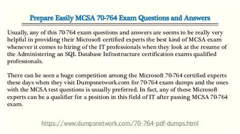 Sql Server 70 764 Exam Prep With Latest Mcsa Exam Dumps 70