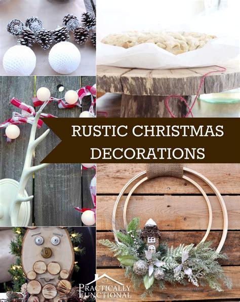 10 diy rustic christmas decorations