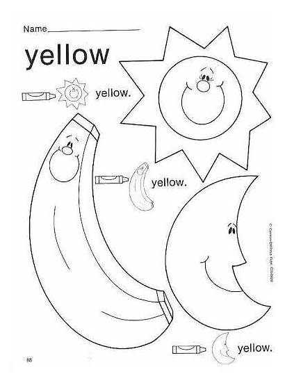 Worksheets Yellow Colors Preschool Worksheet Activities Pre