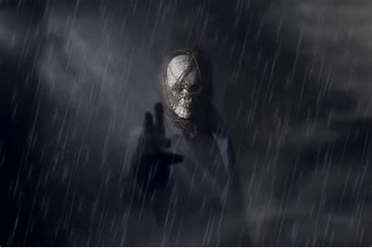 Dark Fantasy Rain Mask Spooky Artwork Darkness