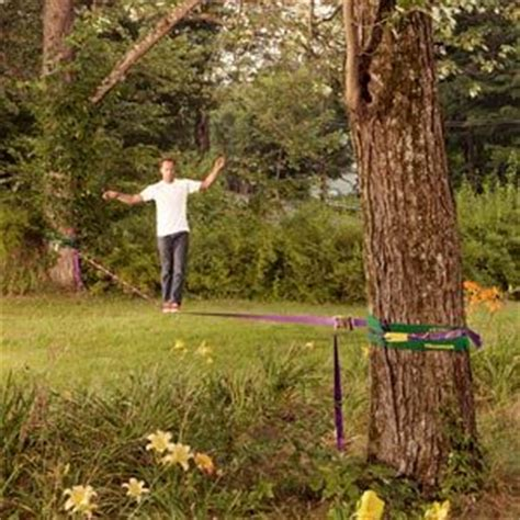 Backyard Slackline Without Trees by Got Balance How To Set Up Your Own Slackline Trees