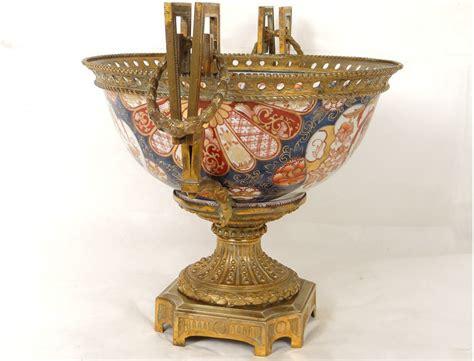 trim imari porcelain vases cup bronze phoenix birds japan xix