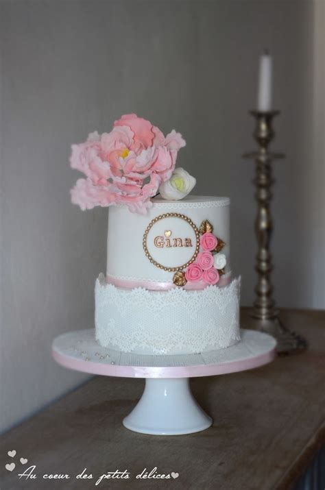 gateau anniversaire 1 an fille g 226 teau d anniversaire b 233 b 233 fille 1 an birthday baby white and pink cake designer