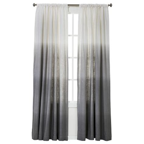 Target Gray Sheer Curtains by Threshold Ombre Stripe Window Panel Gray 54x95 Quot