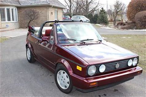 purchase used 1991 volkswagen cabriolet etienne aigner limited edition in willowbrook illinois