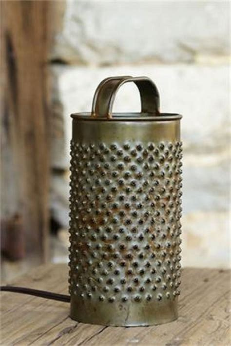Kitchen Grater Lights by Details About Primitive Vintage Look Cheese Grater