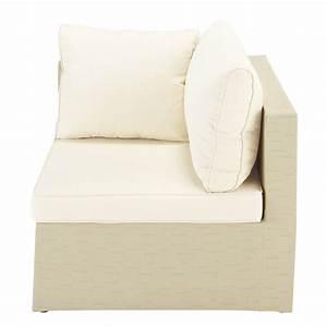 Canapé D Extérieur : angle canap d 39 ext rieur beige ibiza maisons du monde ~ Teatrodelosmanantiales.com Idées de Décoration