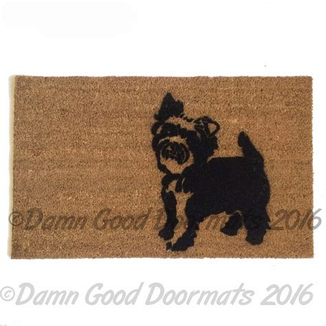 soggy doormat coupon yorkie terrier guard doormat