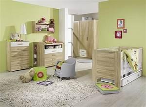 chambre bebe contemporaine chene clair blanche ronco With chambre bebe vert et blanc