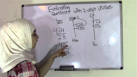 grade math estimating quotients   digit