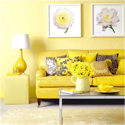 cheerful  bright interior design  shades  yellow
