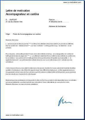 lettre de motivation pour aide de cuisine lettre motivation animateur restauration scolaire ccmr