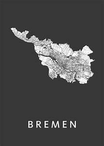 Bremen De Schwarzes : bremen stadskaart poster kunst in kaart ~ Markanthonyermac.com Haus und Dekorationen