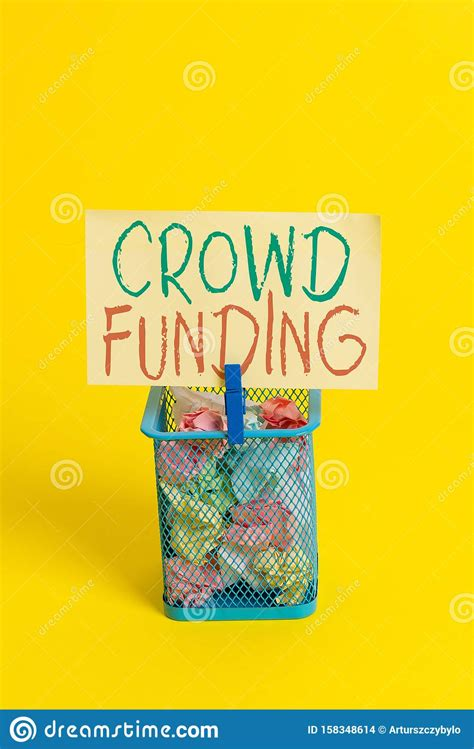 handwriting text crowd funding concept meaning