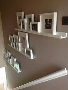 Ikea Värde Wandregal : super id e pour d corer les escaliers great idea finished stair gallery using ikea ribba ~ Orissabook.com Haus und Dekorationen