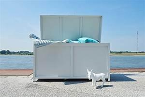Auflagen Für Loungemöbel : ribelli auflagenbox pavia alu kissenbox wasserdicht aluminium gartentruhe in wei f r ~ Markanthonyermac.com Haus und Dekorationen