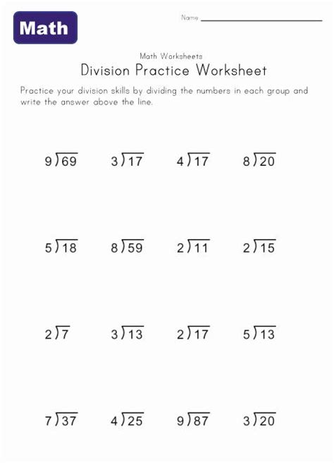 division worksheet five with remainders stuff to buy pinterest math math division and
