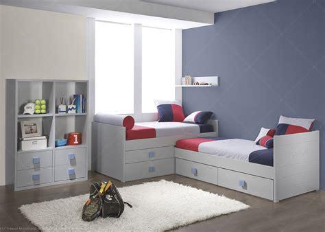 chambre 2 couleurs chambre pour 2 enfants avec 2 lits et bibliothèque de qualité