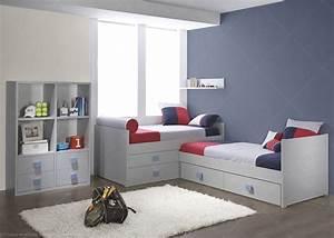 Chambre Enfant 2 Ans : chambre pour 2 enfants avec 2 lits et biblioth que de qualit ~ Teatrodelosmanantiales.com Idées de Décoration