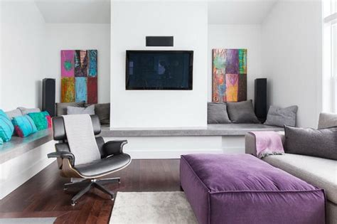 Grey And Purple Living Room by Purple And Grey Living Room House Home