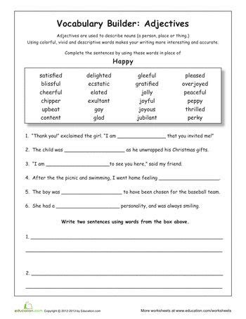 15 Best Synonyms Images On Pinterest  Vocabulary, Fourth Grade And Grammar Worksheets