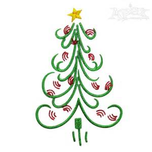 christmas tree embroidery designs funky fun trees