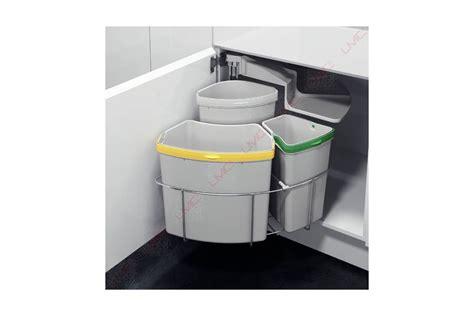 poubelle d angle cuisine poubelle rotative à tri sélectif accessoires cuisines