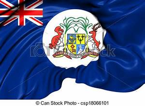Stock Illustration of British Mauritius Colonial Flag ...