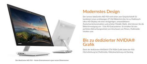 Desktop Aio Lenovo 910 27ish lenovo ideacentre aio 910 27ish f0c20014ge uhd touch