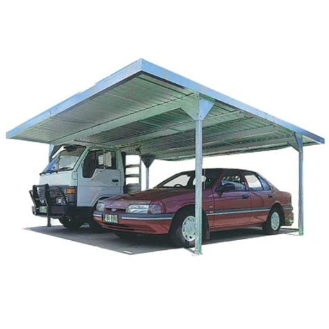 Absco Double Carport Skillion Roof Carports Zincalume Ebay
